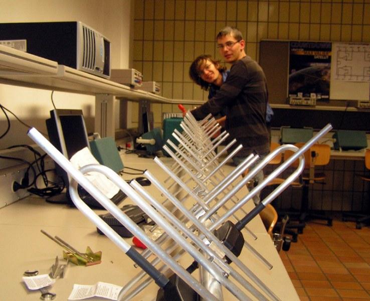 Beim Bau einer Antenne