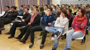 Interessierte Zuhörer: Was bringt die Zukunft?
