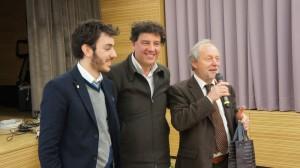 Drei Protagonisten der Tagung: Mario Coda, Prof. Cesareo, Direktor Oberstaller