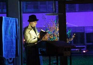 Schauspieler Günther Götsch bei seiner Nachtlesung