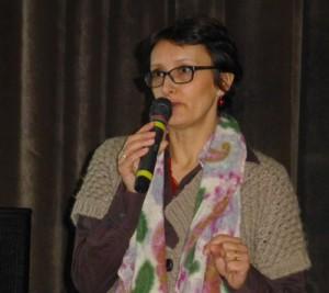 Amtsdirektorin Rolanda Tschuguell beim Info-Abend