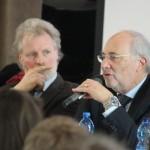 Eberhard Daum und Federico Steinhaus am Mikro
