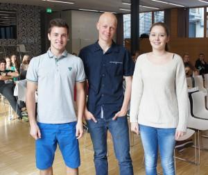 (Von rre. nach li.) Die neuen Vertreter/innen im Schulrat Michaela Gadner, Michael Malleier und Peter Tirler