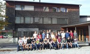 Klassenfoto wärhende der Architekturreise durch das Vorarlberg