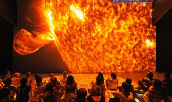 Das Deep Space 8k Kino ermöglicht gewaltige Bilderlebnisse (Quelle: ars electronica)