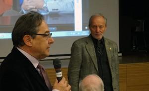 Ex-Senator Oskar Peterlini und Direktor Oberstaller