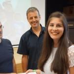 Nadine Gemassmer (5 BBW) mit den Prof.en Moscolin und Kontschieder
