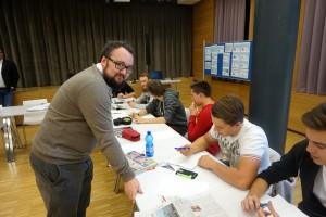 Beim Workshop zum journalistischen Schreiben