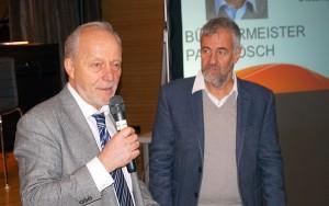 Direktor Oberstaller und Merans Bürgermeister Paul Rösch