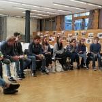 Präsentationen im Mehrzwecksaal der Schule im IDM Südtirol