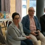 Ex-Direktor Franz Josef Oberstaller, FOS-Ansbach-Direktorin Heidi Hübner, Projektleiter Christoph Göppner und Matthias Schmitz