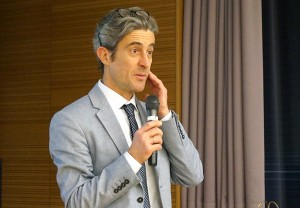 "Prof. Colombi bei seinem Impulsreferat ""Digital Ecology"""